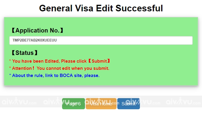 Bước 8:Hoàn thành tờ khai xin visa Đài Loan