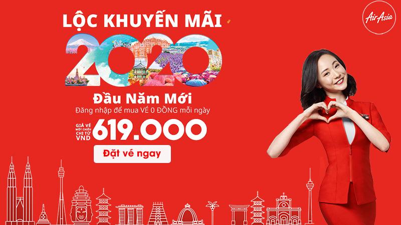 Lộc khuyến mãi từ Air Asia vé máy bay chỉ từ 0 đồng