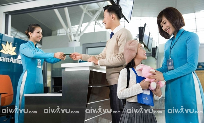 Dịch vụ trẻ em đi một mình của Vietnam Airlines