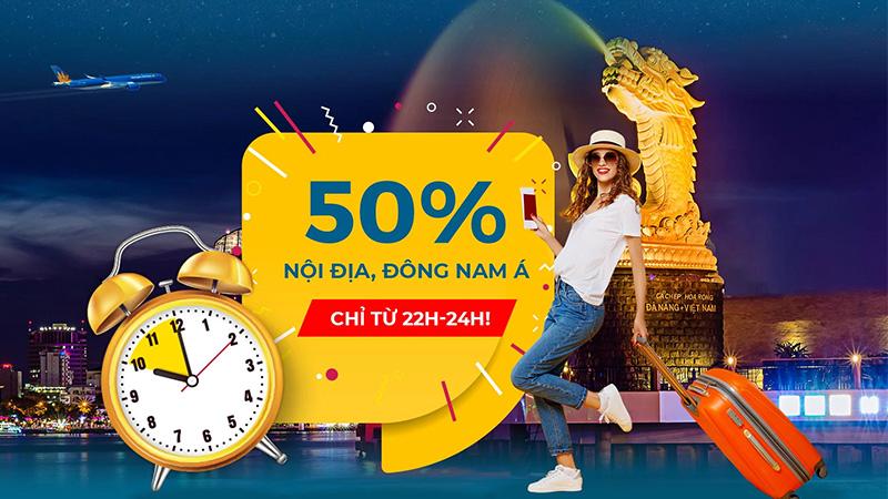 Săn khuyến mãi 50% Nội đia và Đông Nam Á từ Vietnam Airlines