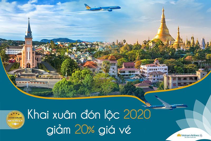 Khuyến mãi khai xuân cùng Vietnam Airlines giảm đến 20%