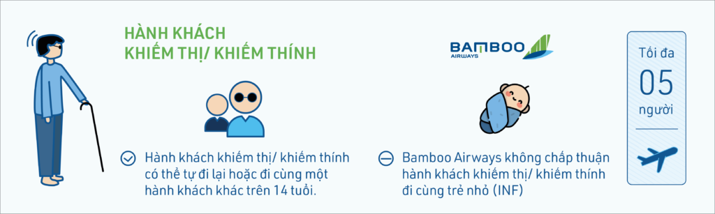 Điều kiện vận chuyển hành khách khuyết tật của Bamboo Airways