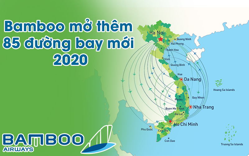 Bamboo Airways dự kiến sẽ khai thác thêm 85 đường bay mới trong năm 2020