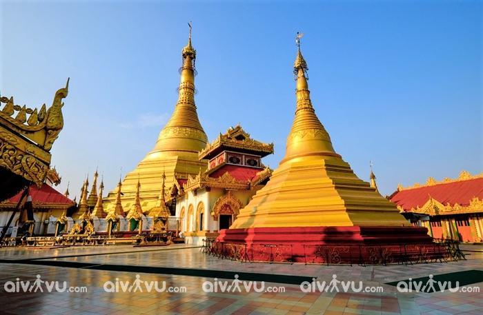 Kyeik Than Lan – Ngôi chùa dát vàng, đính kim cương nổi tiếng ở Myanmar