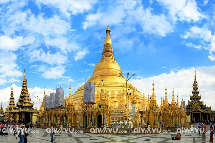 Choáng ngợp với những ngôi chùa dát vàng, đính kim cương ở Myanmar
