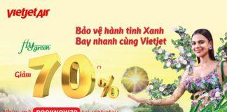 Khuyến mãi giảm 70% giá vé toàn mạng bay từ Vietjet Air