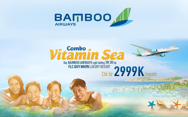 Combo khuyến mãi vé máy bay khách sạn từ Bamboo Airways chỉ từ 2999K