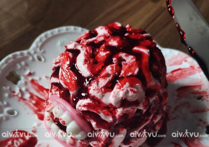 Món ăn kinh dị Halloween – Bánh máu