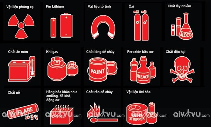 Những chất hóa học cấm mang lên máy bay Vietjet Air