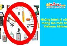 Những hành lý cấm mang lên máy bay Vietnam Airlines (bao gồm cả hành lý ký gửi và hành lý xách tay)
