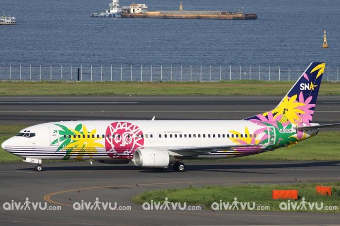 Thiết kế bắt mắt của hãng hàng không Skynet Asia Airway - Nhật Bản