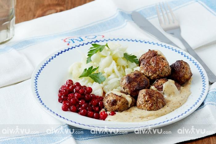 Thịt viên Thụy Điển thơm ngon