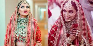 Trong lễ cưới cô dâu thưởng mặc sari màu đỏ với nhiều họa tiết nổi bật