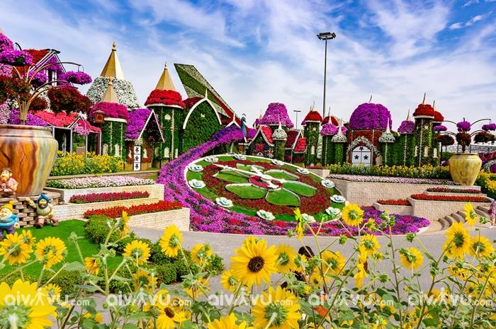 Vườn hoa Dubai Miracle Garden – Vườn hoa tự nhiên vĩ đại nhất thế giới