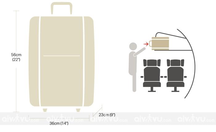 Kích thước hành lý xách tay khi đi máy bay Eva Air