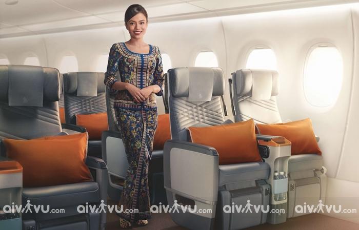 Tiếp viên hàng không Singapore Airlines người đại diện cho hãng