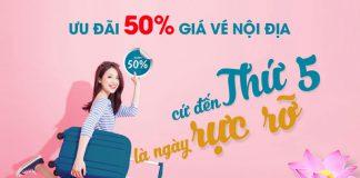 Vietnam Airlines khuyến mãi giảm 50% giá vé nội địa