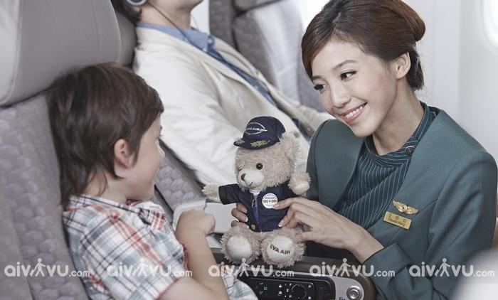 Thông tin về dịch vụ trẻ em đi một mình của Eva Air