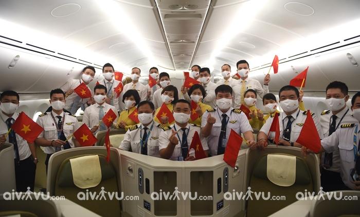 Vietnam Airlines thực hiện chuyến bay đầu tiên từ Việt Nam đến Mỹ