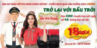 Săn khuyến mãi Vietjet chỉ 18.000 VND bay an toàn mùa Covid