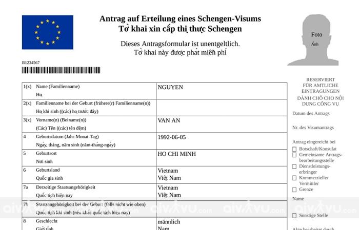 Hướng dẫn điền tờ khai xin visa Đức mới nhất