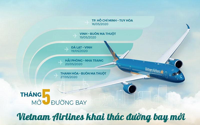 Vietnam Airlines mở thêm 5 đường bay vé khuyến mãi chỉ 99.000 VND