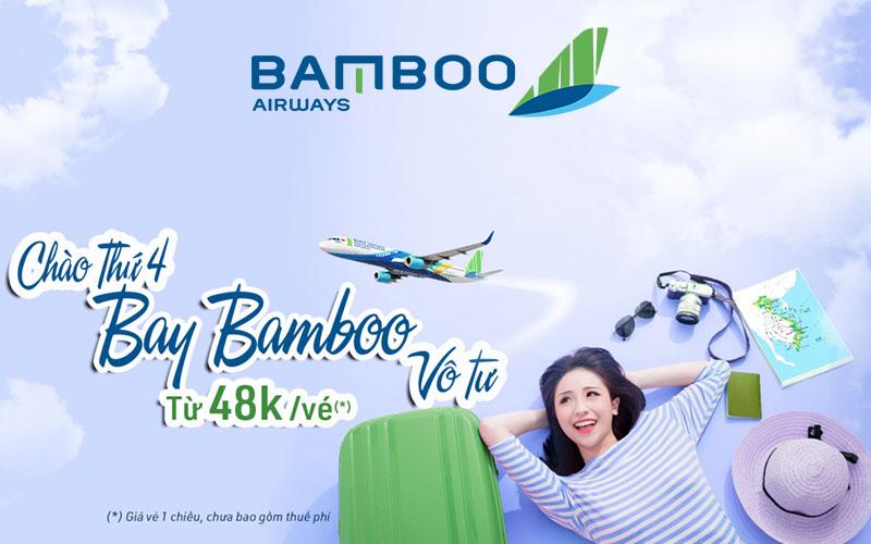 Săn vé máy bay Bamboo Airways chỉ từ 48.000 VND bay vô tư