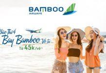 Khuyến mãi chỉ 48.000 VND cùng Bamboo Airways bay vô tư