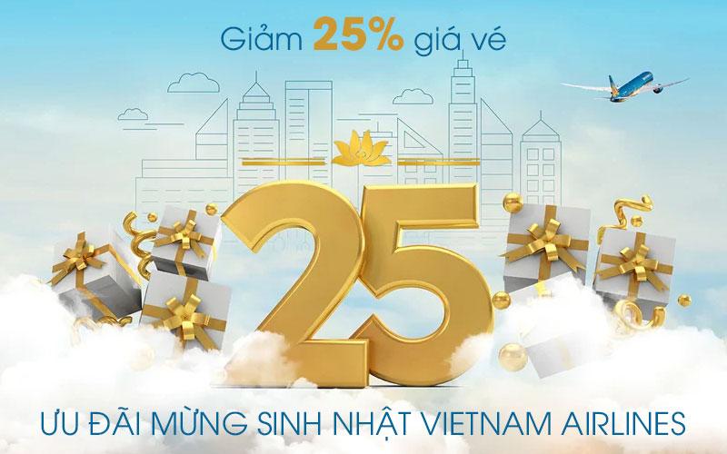 Vietnam Airlines khuyến mãi giảm 25% mừng sinh nhật