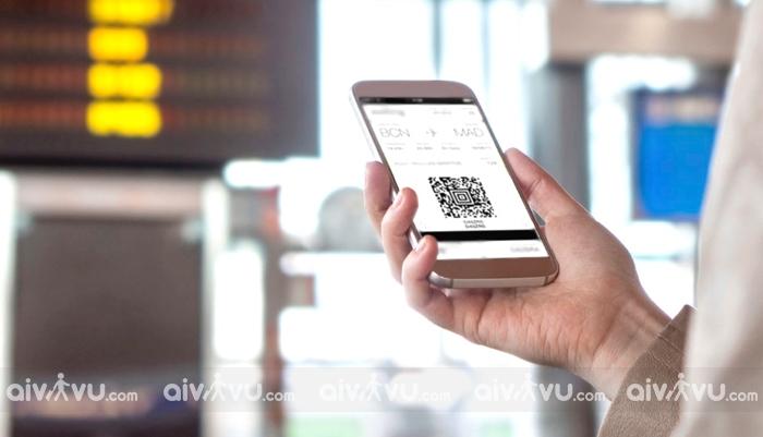 Các sân bay chấp nhận thẻ lên máy bay trên web/ điện thoai di động