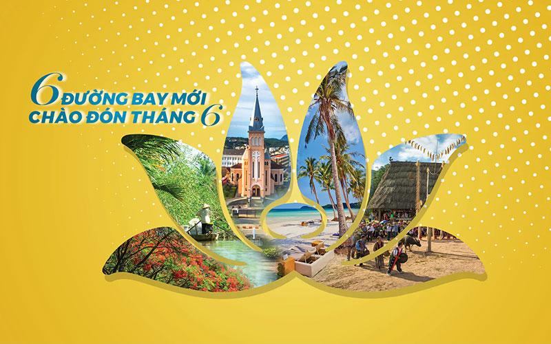 Khuyến mãi chỉ 99.000 VND mừng 6 đường bay mới của Vietnam Airlines