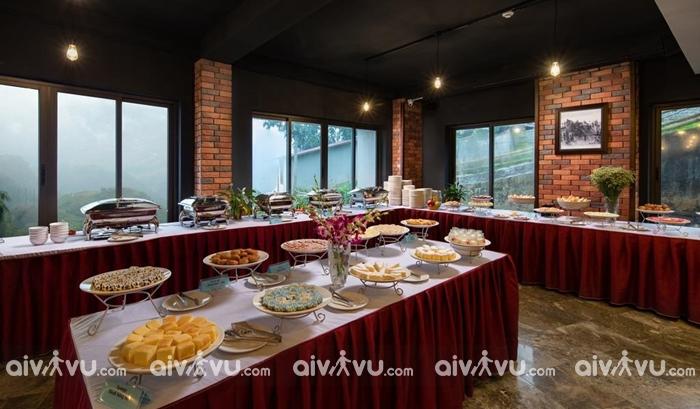 Miễn phí buffee bữa sáng tại khách sạn The View Sapa