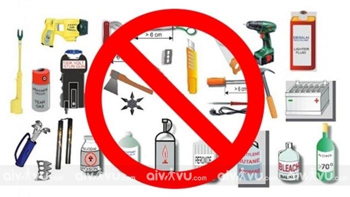 Những vật dụng bị cấm mang theo lên máy bay Korean Air