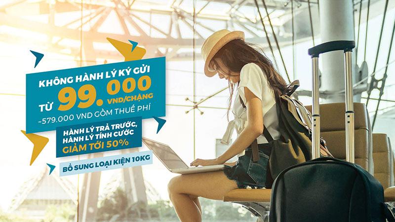 Bay không hành lý cùng Vietnam Airlines chỉ từ 99.000 VND