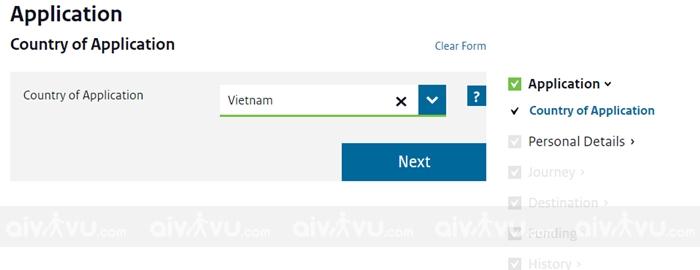 Điền tờ khai xin visa Hà Lan