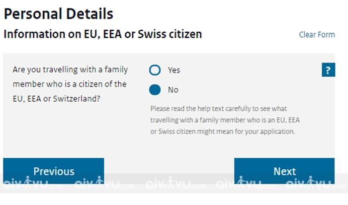Thông tin về người thân ở châu Âu