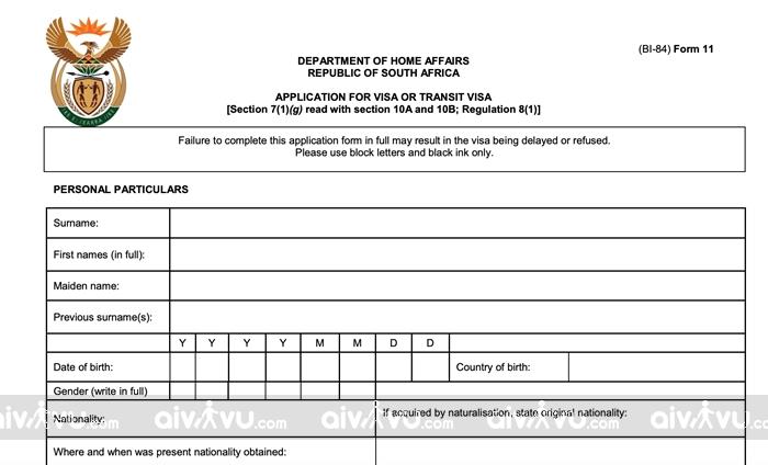 Hướng dẫn điền tờ khai xin visa Nam Phi mới nhất