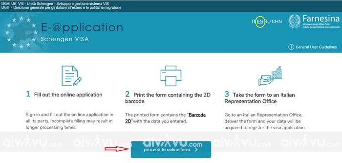 Bước 1: Vào trang web khai form online