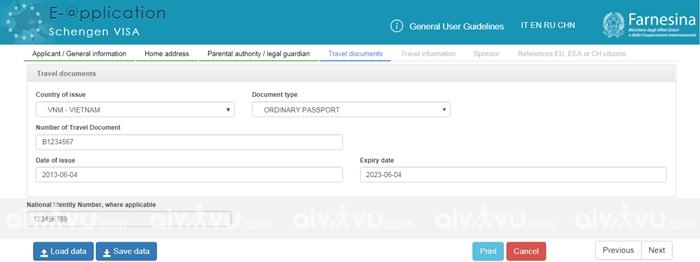 Bước 5: Travel documents – Giấy tờ thông hành (Hộ chiếu)