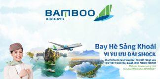 Bamboo Airways khuyến mãi bay 0 đồng bay hè sảng khoái