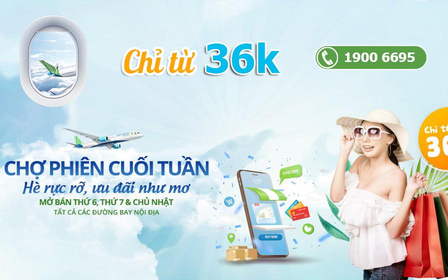 Săn khuyến mãi Bamboo Airways chỉ 36.000 VND đón hè rực rỡ