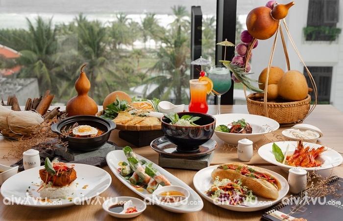 Bữa sáng đậm nét ẩm thực Việt kết hợp với ẩm thực Á – Âu.