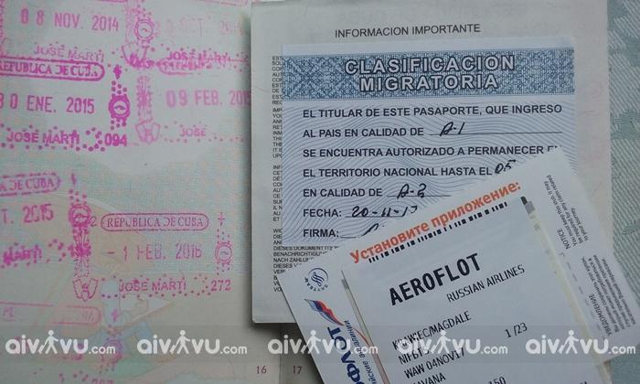 Một số lưu ý khi chuẩn bị hồ sơ xin visa Cuba