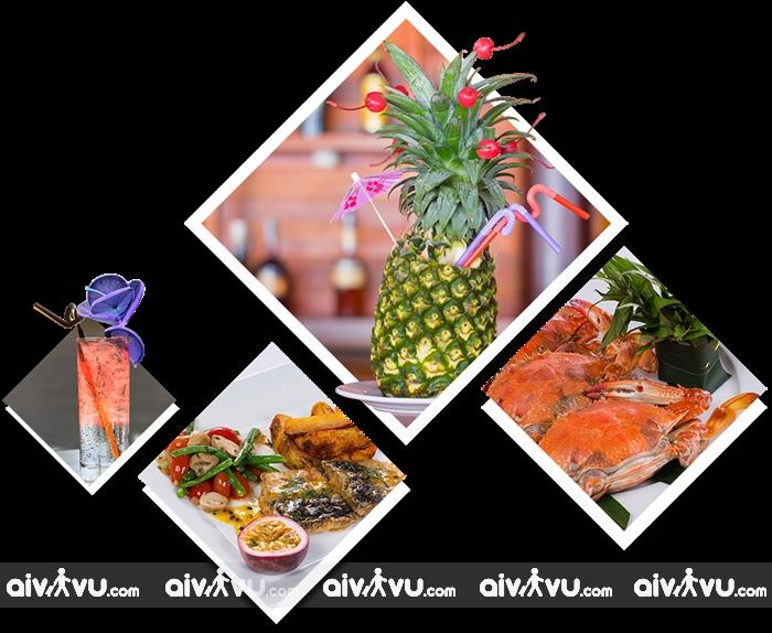 Kim Hoa Resort có nhà hàng n phục vụ các món đặc sản Việt Nam
