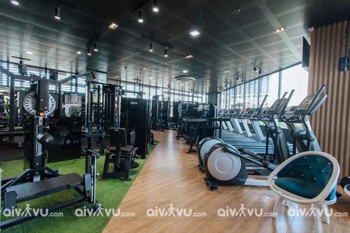 Phòng tập gym tại khách sạn Hôtel Colline