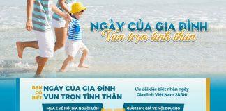 Vietnam Airlines khuyến mãi giảm 10% giá vé nhân ngày của gia đình