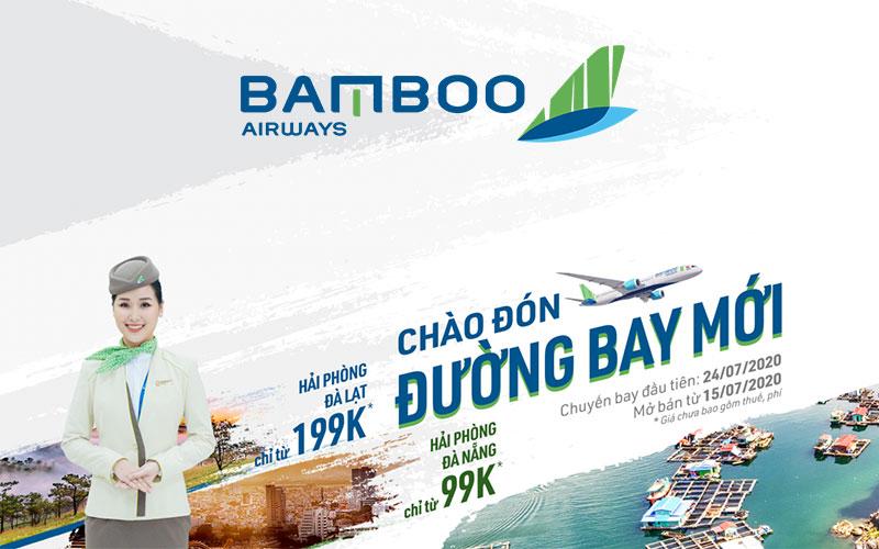 Chào đón đường bay mới Bamboo Airways khuyến mãi chỉ 99.000 VND