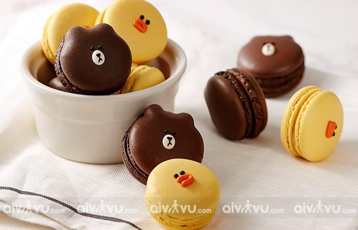 LINE Macarons những chiếc bánh dễ thương