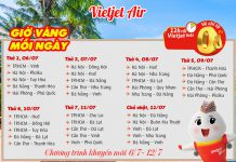 Vietjet Air khuyến mãi vé máy bay 0 đồng thỏa sức vi vu