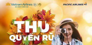 """Vietnam Airlines """"đón thu quyến rũ"""" vé khuyến mãi chỉ từ 69.000 VND"""